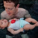 Марк Цукерберг продемонстрировал фото дочери вбассейне