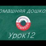 Урок №12 из полного курса домашней подготовки к школе (34 урока)